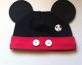Boy, Girl, Infant, Toddler, Mickey Inspired Beanie, Mickey Mouse Hat, Twin Clothes, Preemie, Disney Vacation, Halloween Costume