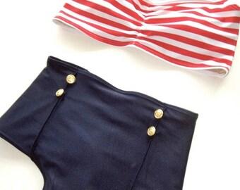 High Waist Nautical Bikini
