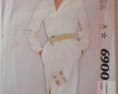 Womens Vintage Sewing Pattern - Front Buttoned Shirt Dress - McCall's 6900 - Sizes 10 and 12, Bust 32 1/2 - 34