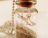 Shark Necklace Santa Cruz Sand in a Bottle Beach Jewelry Surfer Gift Vial Men Guy