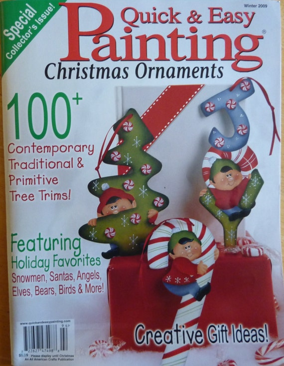 Quick & Easy Painting Magazine / Christmas Ornaments Winter