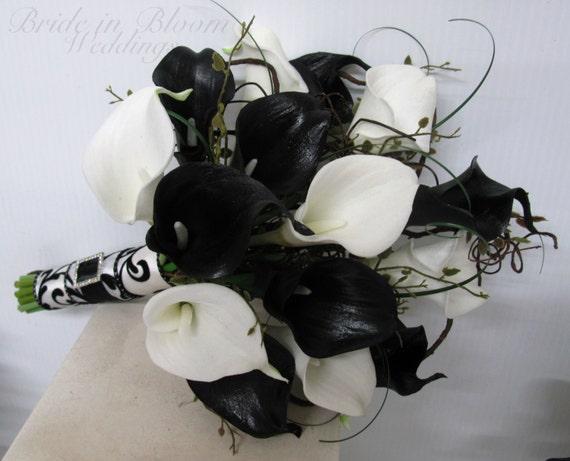 Sort Og Hvid Brudepige Buketter