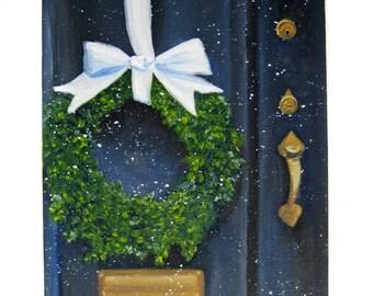 Winter Painting Print - Christmas Art - Winter Art - Winter Home Decor - Christmas Print - Winter Print - Christmas Painting Print - Holiday