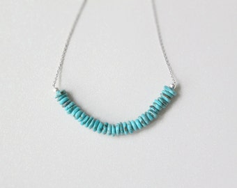 Sleeping Beauty Turquoise Row Necklace