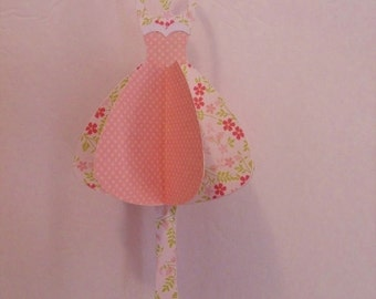 3d Ballerina Dancer - pink, floral print