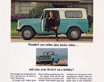 1964 ih scout play hooky ad 64 international harvester for International harvester decor