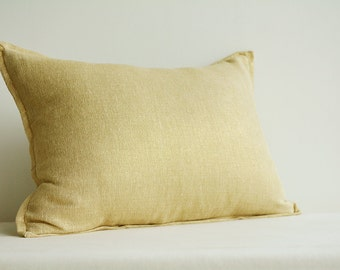 Gold Foil Metallic Pillow Cover , Gold Decorative Pillow , Lumbar Pillow , Throw Pillow , Gold Cushion Cover