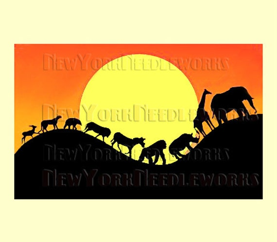 africa pattern african cross stitch animals silhouette pattern african pattern silhouette africa by newyorkneedleworks on etsy