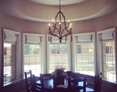 Roman Shade--Custom, with ribbon trim