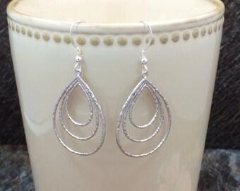 Hoop Earrings, Silver Hoop Earrings, Big Hoop Earrings, Dangle Earrings, Drop Earrings