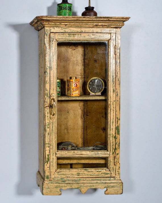 Cabinet Butter Cream And Green Boho Chic Wood Bathroom Cabinet Kitchen