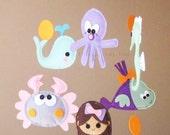 "Baby Mobile - Pretty Mermaid Crib Mobile - Handmade Nursery Mobile - ""Long Hair Mermaid and sweetie"" (Match your bedding)"