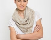 Infinity cowl scarf cream loop circle knit women scarves