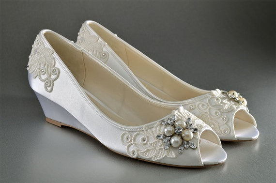 Wedding Shoes Lace Wedge Wedding Shoes Custom Wedding Shoes