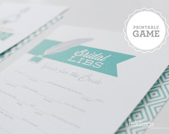 "Printable ""Bridal Libs"" Game // Choose your color"