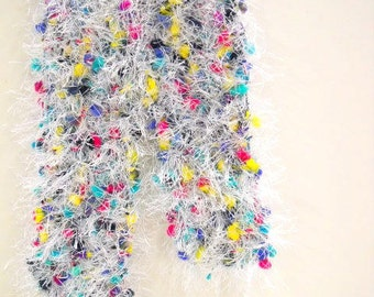 Toddlers Fuzzy Scarf, Confetti Colors Dress Up Boa, Photo Prop, Little Girls Accessories