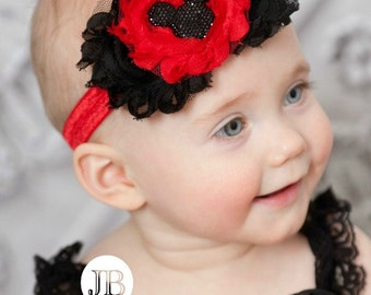 Baby Headband, baby headbands, Mickey minnie headband,Mickey headband,Baby girl headband, Newborn Headband, girls headbands, headbands.