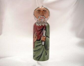 Benjamin, son of Jacob - Catholic Saint Wooden Peg Doll Toy - made to order