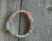 Rainbow Brite Double Loop Bracelet - Proceeds Benefit Cancer Research