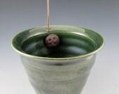 Metallic Green  Thread Pot
