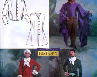 Butterick B4155 Men's Historical Costumes Sewing Pattern - Uncut - Sizes Sml, Med