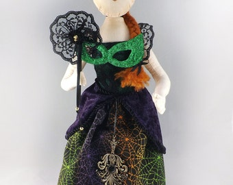 OOAK Halloween Art Doll - Halloween Masquerade Ball