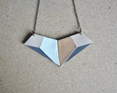 Geometric Necklace-Leather Necklace, Gift Idea, For Her, More Colors Available