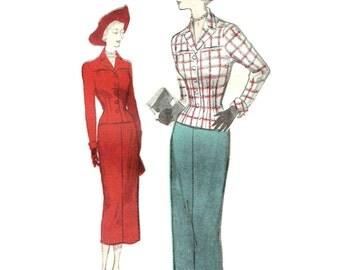 Vintage New Look 1950s Suit Pattern Unused Bust 34 Size 16 Butterick 5029