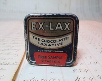 Vintage Ex Lax Tin Collectible