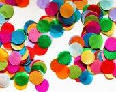 Tissue Rainbow Confetti - Circle Shaped