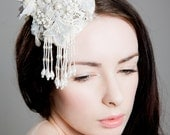SALE 50% OFF Bridal Couture Lace and Pearl 'Isabella' Fascinator