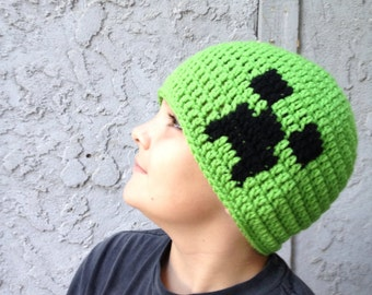 Minecraft Creeper Beanie hat- all sizes available