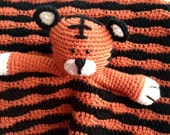 Tiger Lovey/ Security Blanket/ Stuffed Toy/ Plush Toy/ Soft Toy/Amigurumi Toy-  MADE TO ORDER