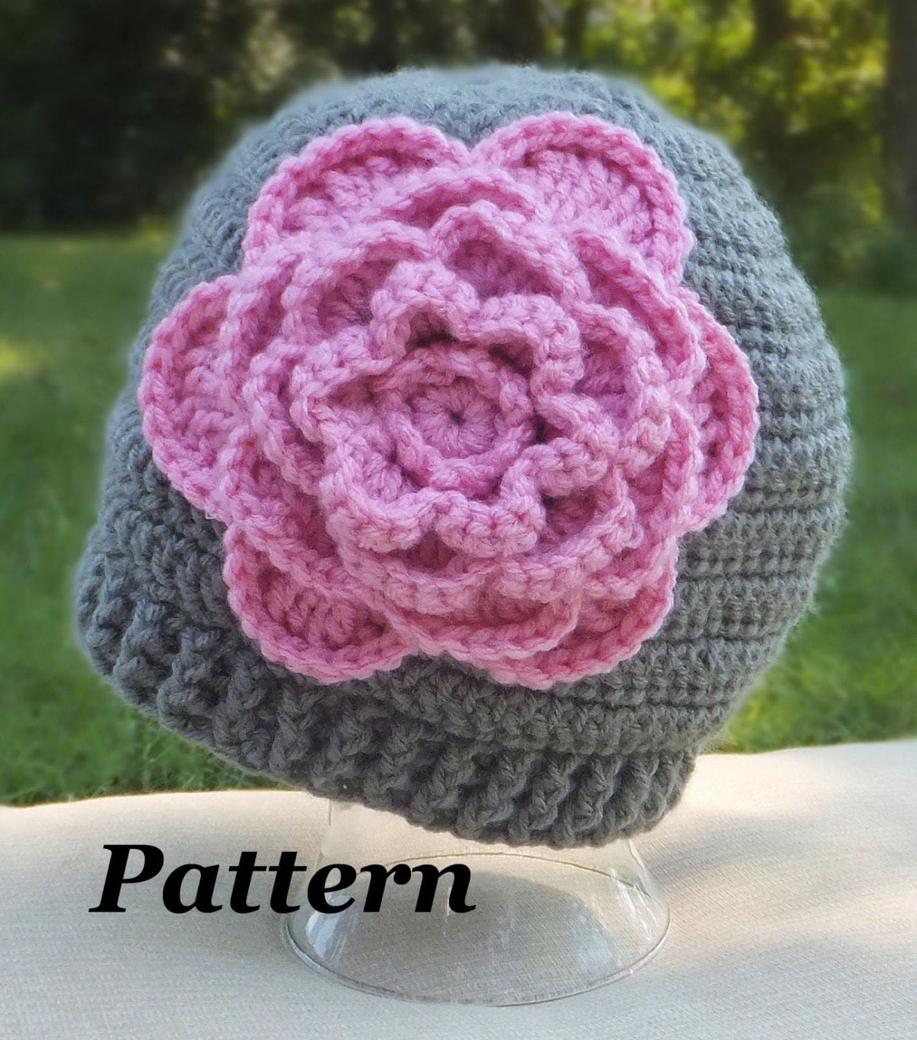 Crochet Beanie Pattern With Flower : CROCHET PATTERN: Bloomin Beanie Flower Hat by ...