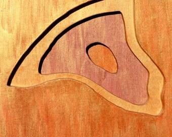 Craggy Dome, North Carolina, Acrylic on Birch Plywood, map art