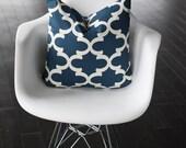 """Blue Moroccan Decorative Pillow Cover- 13x20"""" Lumbar"""