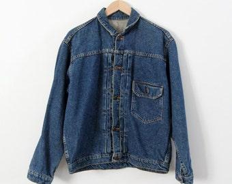 denim jacket, vintage jean jacket, workwear by Wahoo Maker