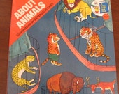 "Vintage Richard Scarry's ""About Animals"" Children's Book - 1976 Edition - Golden  Press - ""A Golden Look-Look Book"""