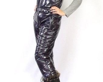 Montessa shiny vinyl down pants