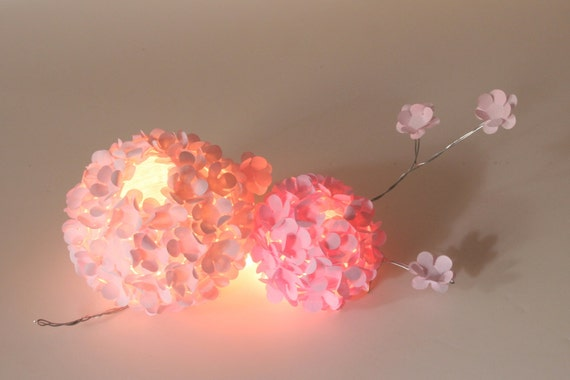 hortensia boule maîtresse papier lumineux fleur mariage