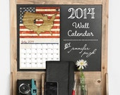 2014 Monthly Wall Hanging Art Calendar - 11x17- Bold, Modern, Colorful Designs