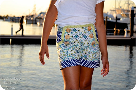 Sailor Shorts: Sailor Shorts PDF Sewing Pattern, Girls Shorts PDF Sewing Pattern, Baby & Toddler Shorts PDF Sewing Pattern