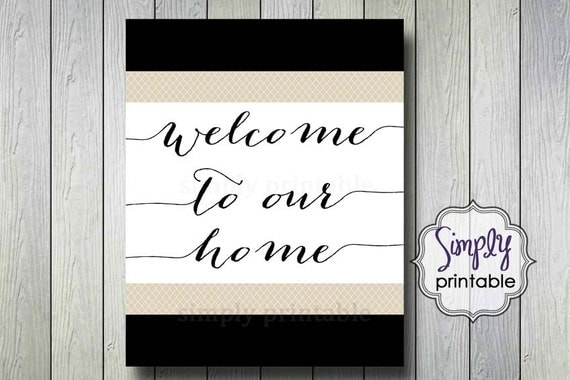 Welcome to Our Home Printable Wall Print (8x10)