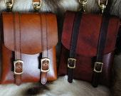 Leather bag / pouch with detatchable shoulder strap