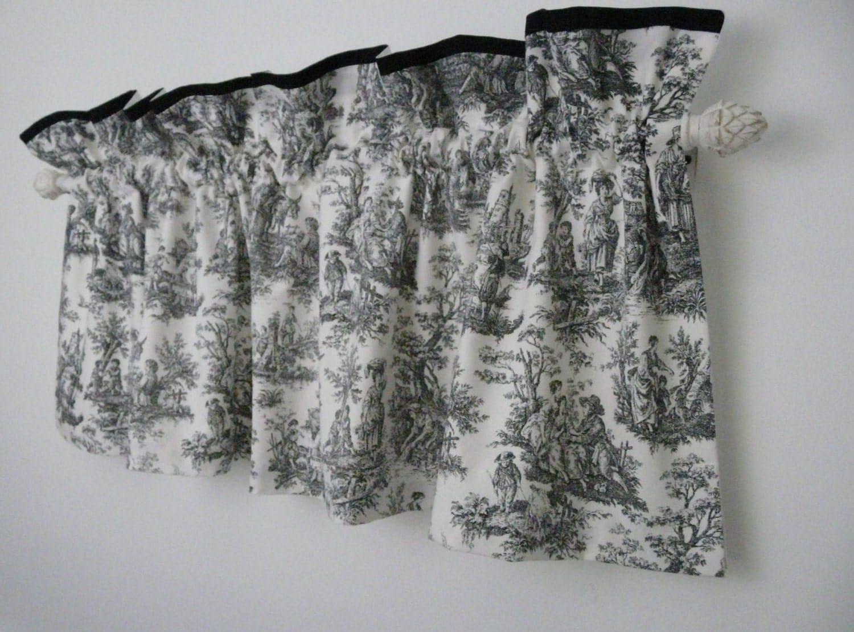 Black White Vintage Toile Valance Waverly Toile Fabric