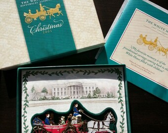 Official White House Historical Ornament in honor of Andrew Johnson NIB