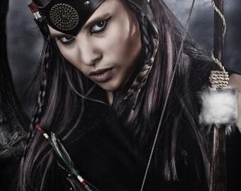 Leather headpiece • warrior crown