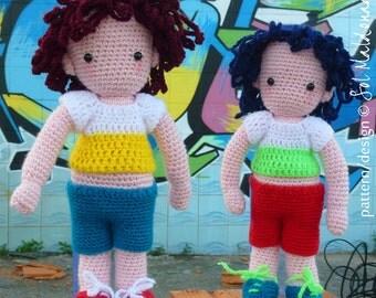 Amigurumi Doll Crochet Pattern Boys PDF - Instant Download