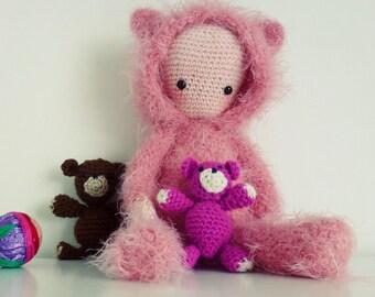 Crochet Doll Pattern Amigurumi Bear PDF - Instant Download