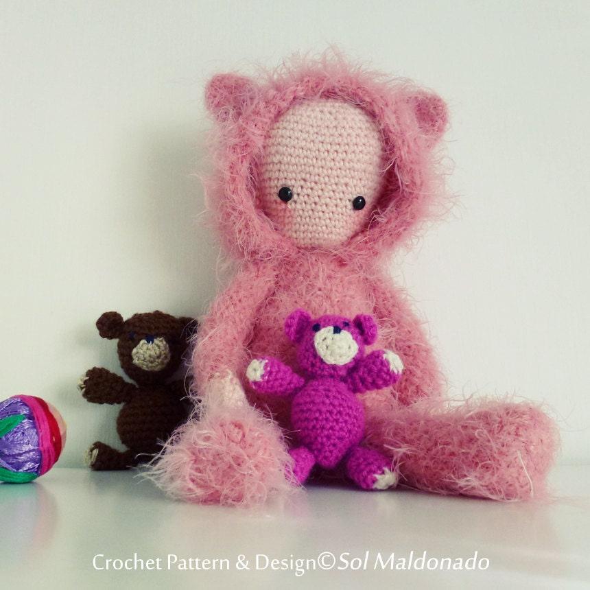 Stitch Amigurumi Doll Pattern : Crochet Doll Pattern Amigurumi Bear PDF Instant Download ...